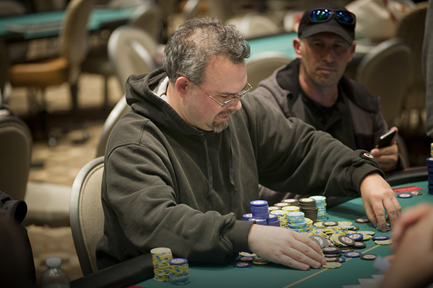 Day 1A Chip Leader Michael Dobbs Rakes in a Massive Pot